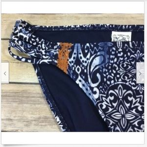 Lucky Brand Swim - Lucky Brand Batik Embroidered Bikini Swim Bottoms